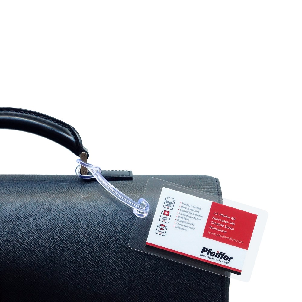 5mil Luggage Tag & Loops Laminating Pouches 25pcs by Pfeiffer Product Group