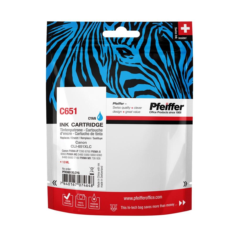 ... Canon CLI651XLC Cyan Ink Cartridge by Pfeiffer Packshot ...