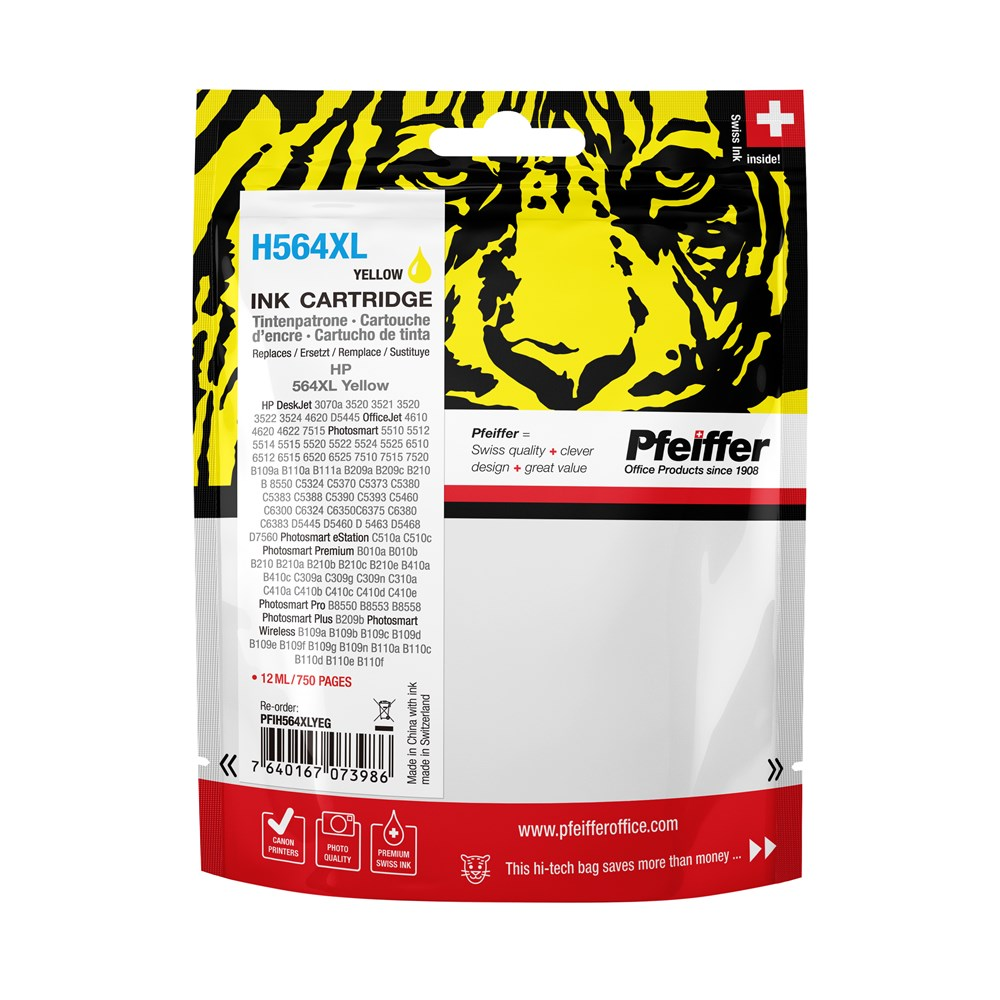 HP 564XL Yellow Ink Cartridge by Pfeiffer Packshot