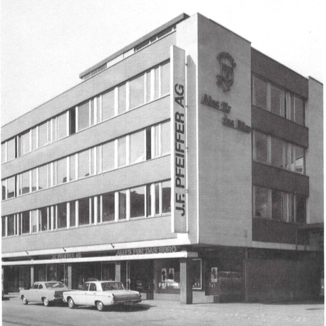 Pfeiffer Haus Zum Hirschen at Seestrasse 346 in Zürich Wollishofen. Head Office location since early 1960s - until today.