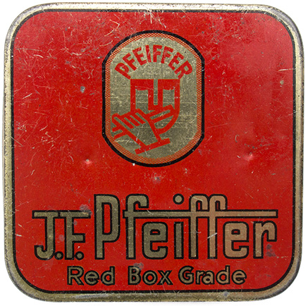 Pfeiffer typewriter ribbon box, ca 1930